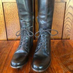 Beautiful FREY Melissa Riding Lace Boots in Brown